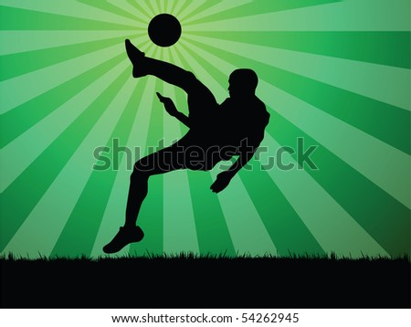 soccer player - stock photo
