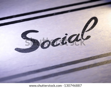 Social - stock photo