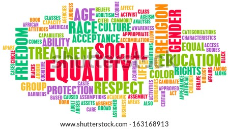 Social Equality Respect for Every Race and Gender - stock photo