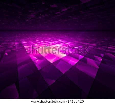 Social Grid - Fractal Illustration - stock photo