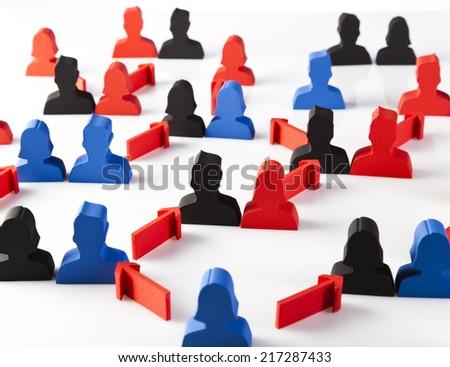 Social group teamwork  - stock photo