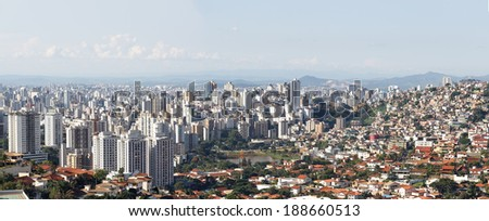 Social inequality at Belo Horizonte, Minas Gerais, Brazil - stock photo
