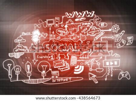 Social interaction ideas - stock photo