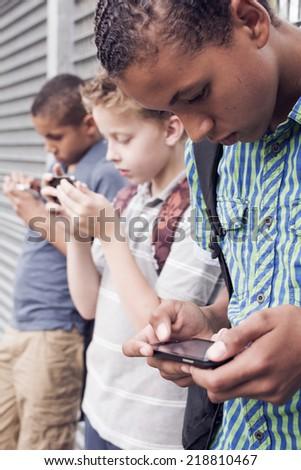 Social media addiction - stock photo