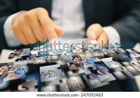 Social media concept.media marketing. - stock photo