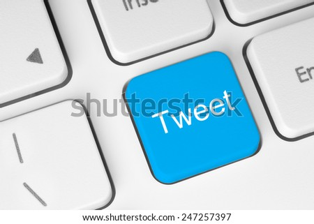Social media concept on keyboard background   - stock photo