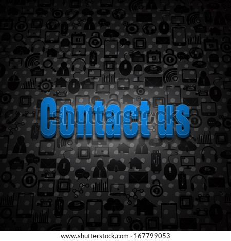Social media concept text  connect on social background - stock photo