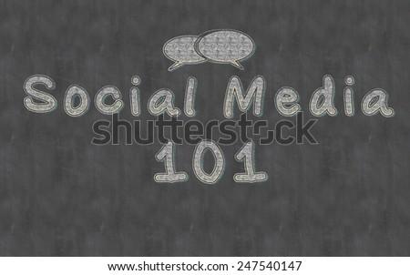 Social Media 101 Lesson  on Blackboard - stock photo
