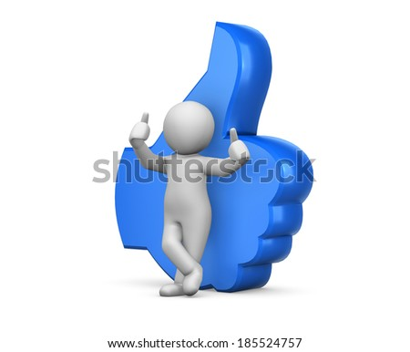 social media like symbol - stock photo