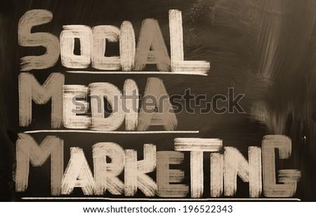 Social Media Marketing Concept - stock photo