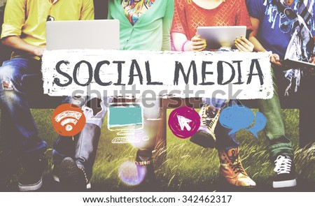 Social Media Networking Connection Concept - stock photo