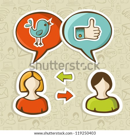 Social media networks - stock photo