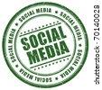 Social media stamp - stock photo