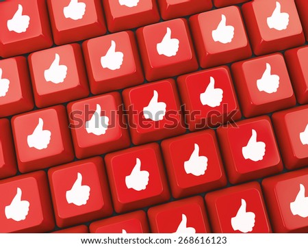 social media  symbol 3d - stock photo