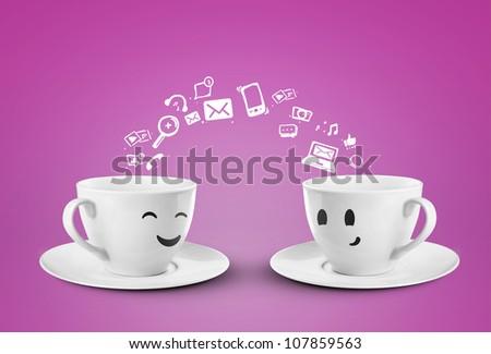 Social media tag, internet concept - stock photo