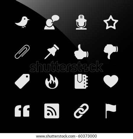 Social Media Web Icons - stock photo