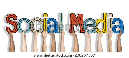 Social Media Word Concepts Isolated on Background - stock photo