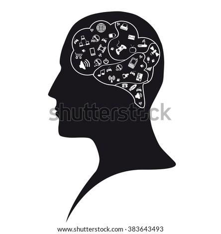 Social mind - stock photo