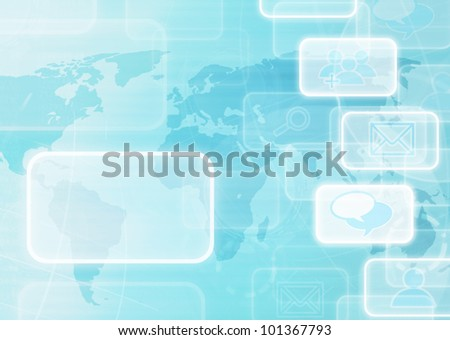 social network abstract background. - stock photo