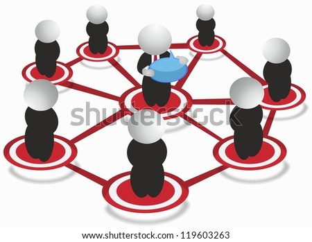 Social Network - communication - stock photo