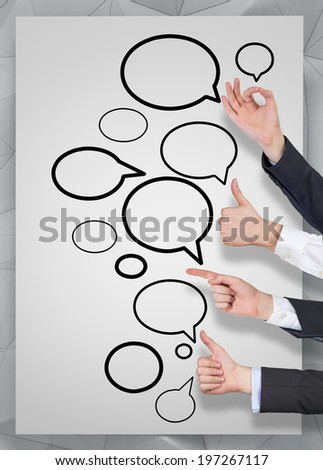 Social network, communication. - stock photo