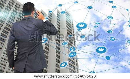 Social network concept.  - stock photo