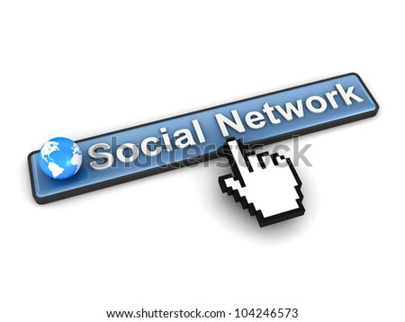 Social network concept on white background - stock photo