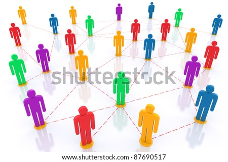Social network. 3d rendered illustration - stock photo
