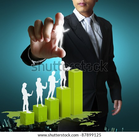 social network structure ,Graph - stock photo