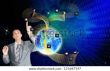 Social network.The Internet concept - stock photo