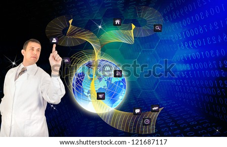 Social network.The Internet concept.Programming connection - stock photo