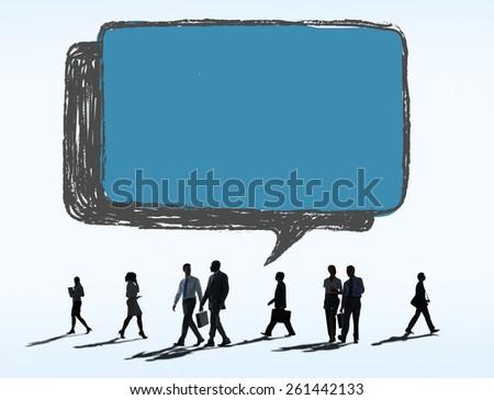Social Networking Communication Technology Speech Bubble Concept - stock photo