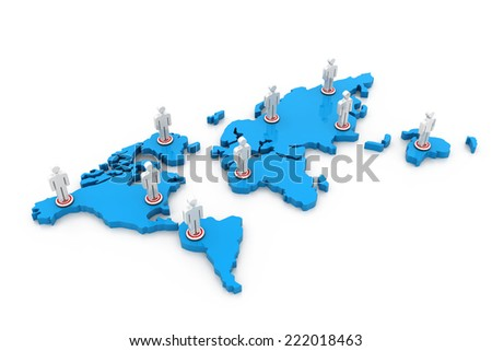 Social networking, Global connection of people	 - stock photo