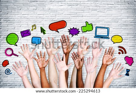 Social networking icons. - stock photo
