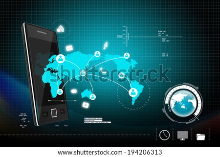 Social networking in  digital tablet - stock photo