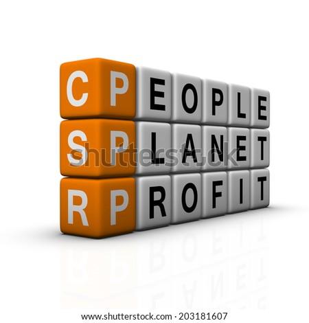 social responsibility symbol (orange-white crossword series) - stock photo