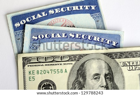 Social Security and retirement income concept of financial planning - stock photo