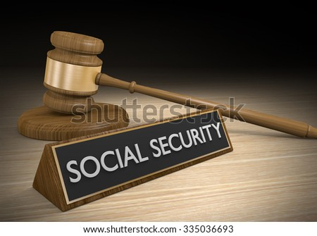 Social security law and government welfare benefits - stock photo