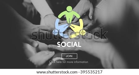 Social Socialize Society Unity Community Global Concept - stock photo