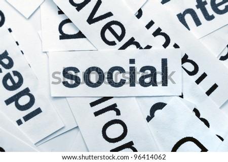 Social word cloud - stock photo