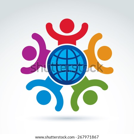 And joyful and organizations taking care about the world global peace