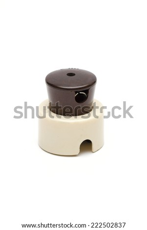 sockets on the white background  - stock photo