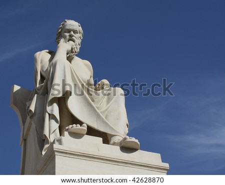 Socrates in Athens with copyspace - stock photo