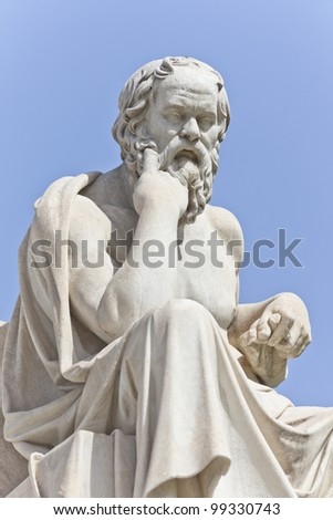 Socrates in front of the National Academy of Athens, Greece - stock photo
