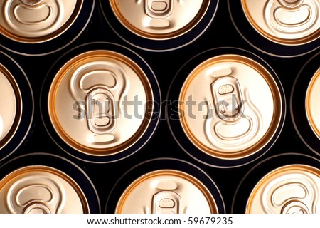 Soda/beer cans - stock photo