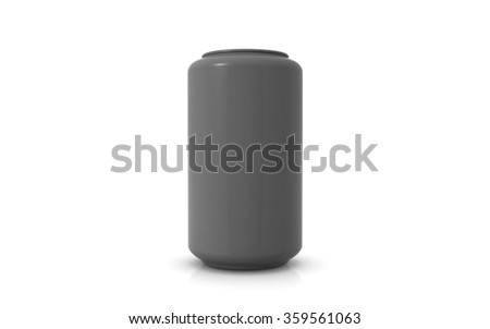 soda can isolated on white background - stock photo