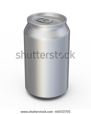soda drinks can (clipping path) - stock photo