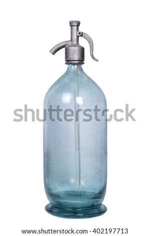 soda siphon old - stock photo