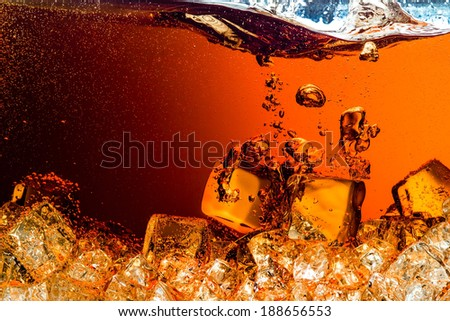 soda with Ice - stock photo