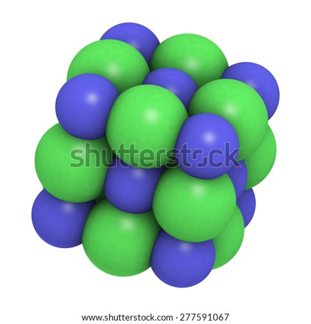 how to draw crystal structure of sodium chloride